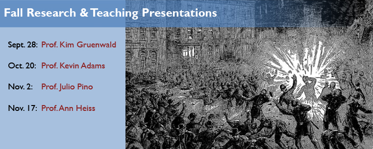 Fall Research & Teaching Presentations