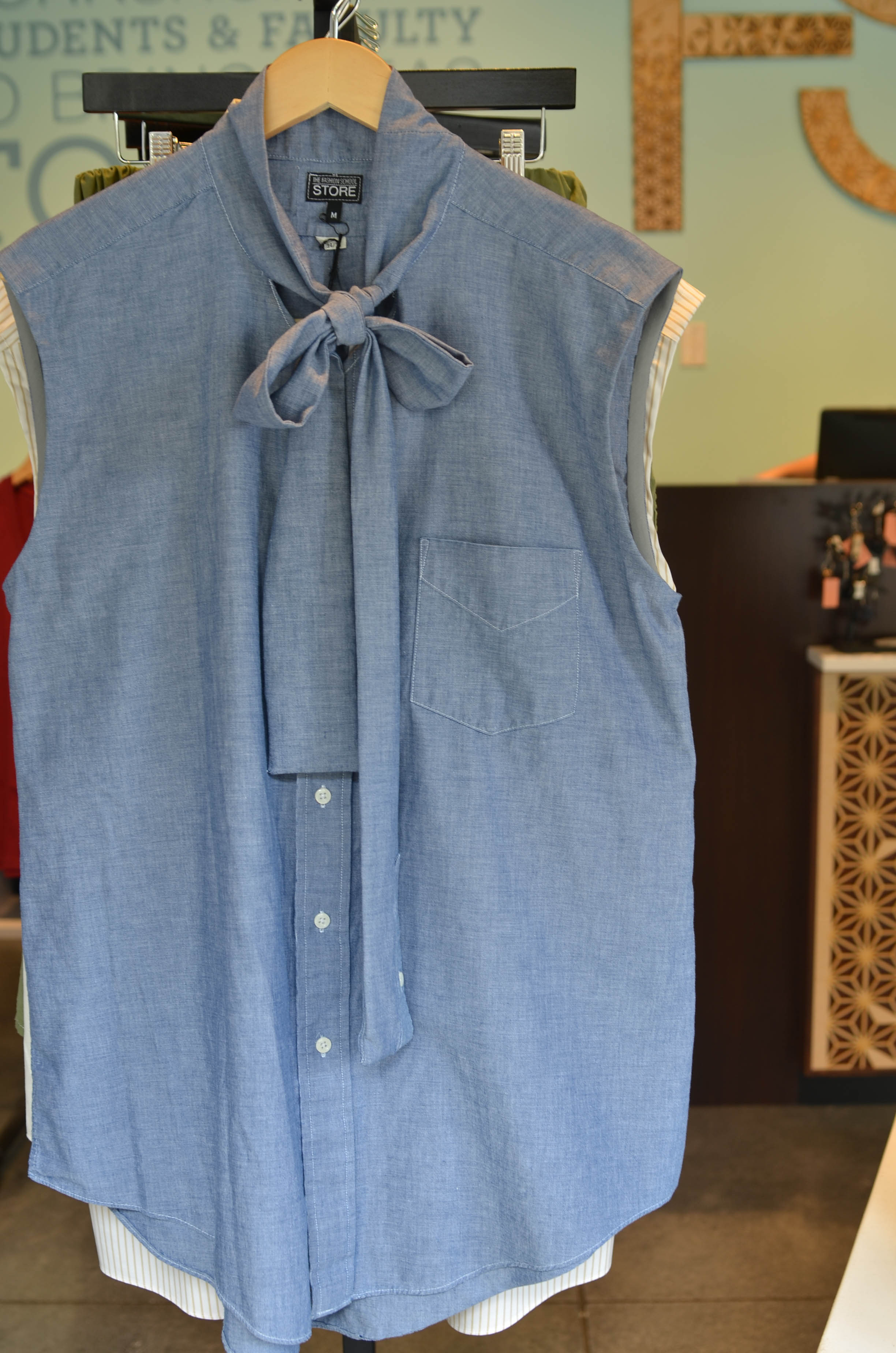 Upcycled garment created by students Greta Busche and Evelyn Rossol