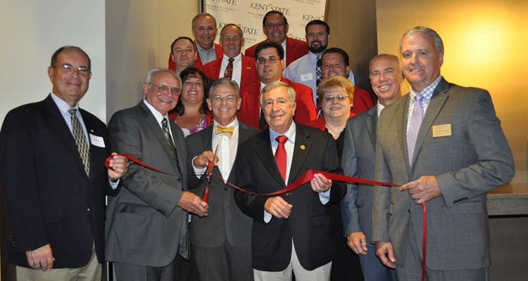 A ribbon-cutting-ceremony was held with members of the Salem Area Chamber of Commerce and local dignitaries to officially open the completed second floor of Centofanti Hall.