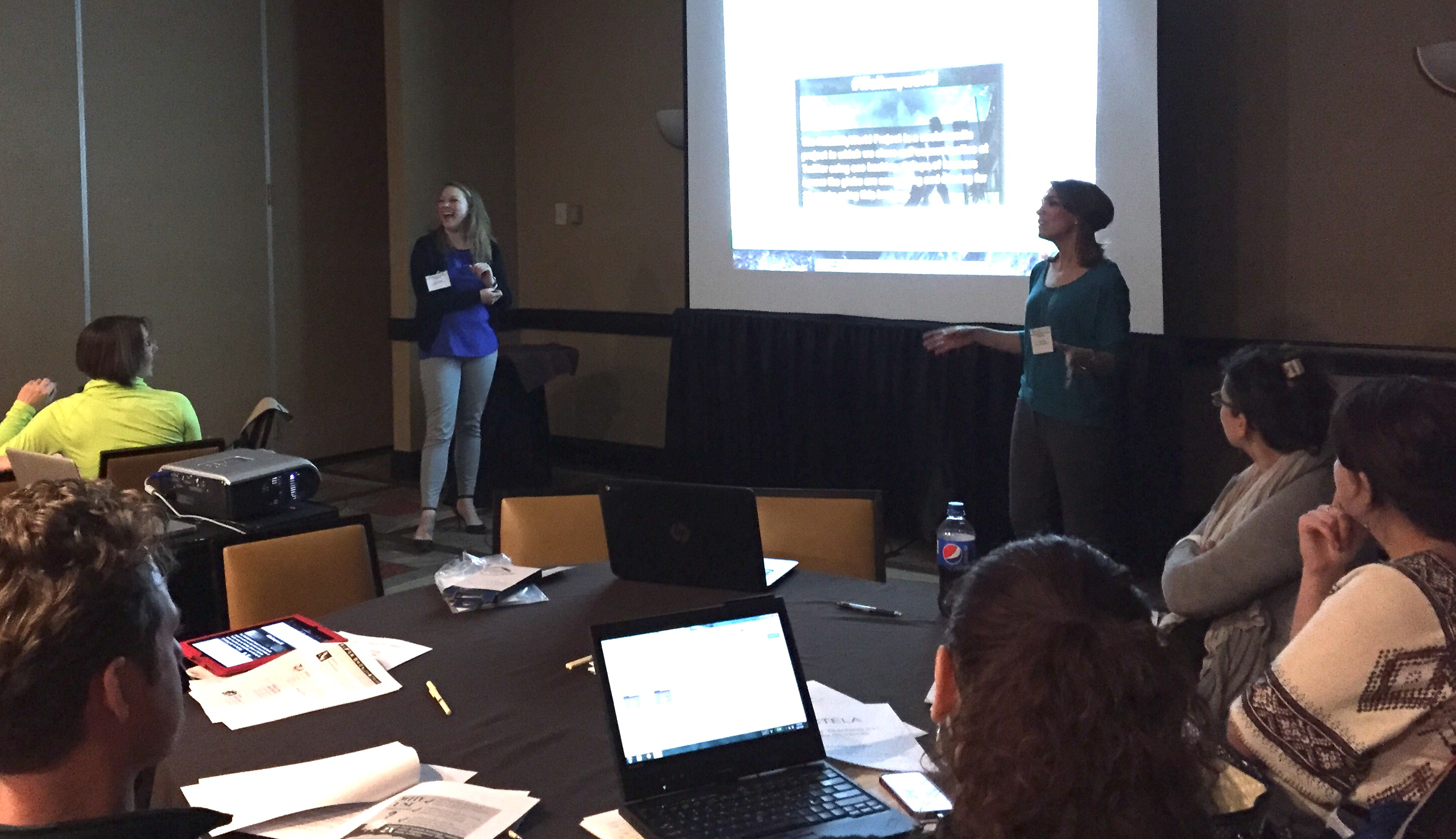 INLA students in a presentation at the OCTELA conference