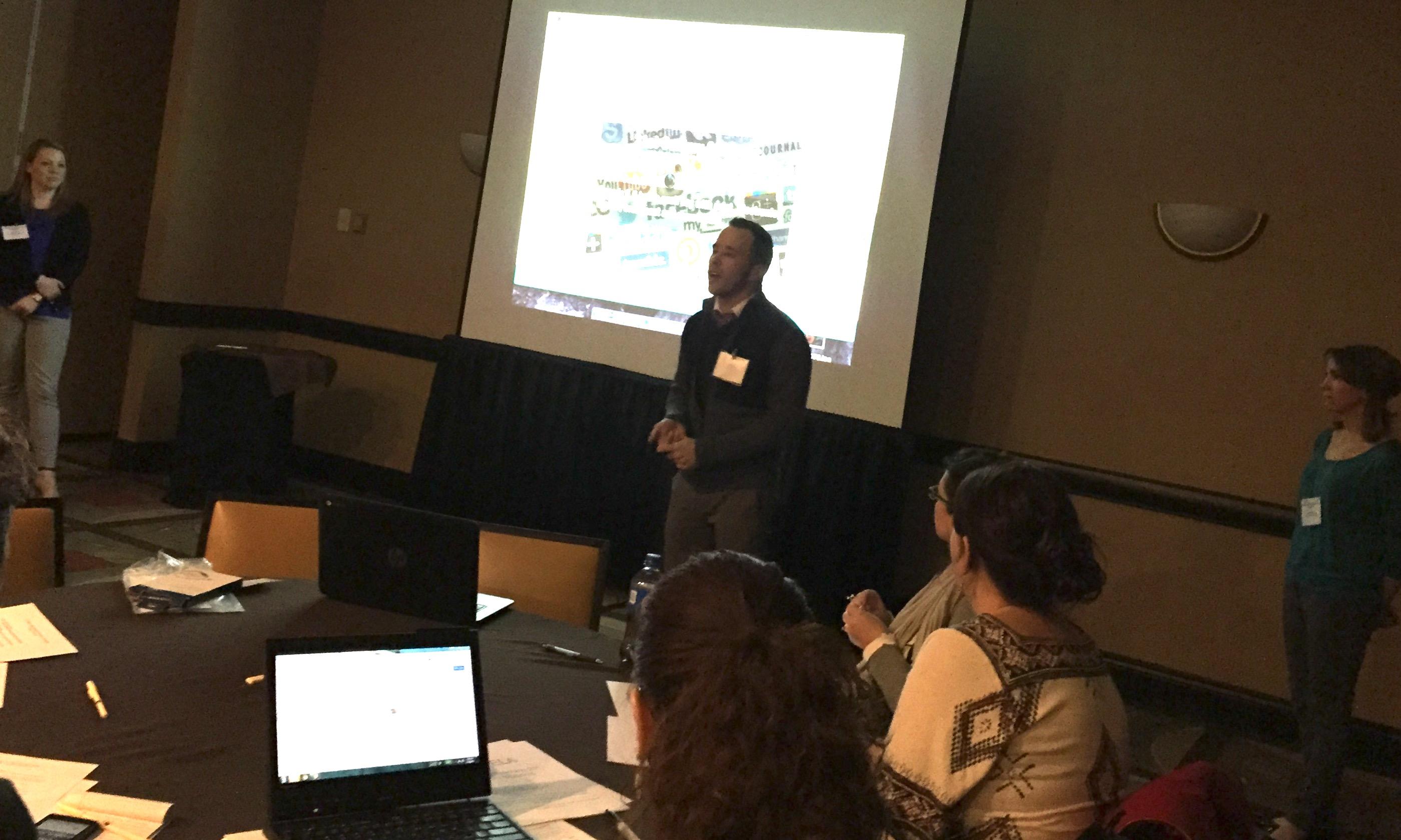 Randy Rininger at OCTELA conference