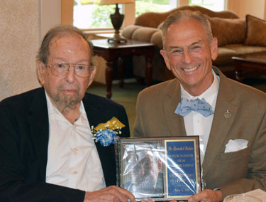 Dr. Herschel A. Rubin received the Friend of the Campus Award
