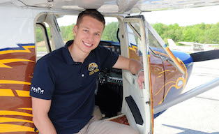Photo of Kent State aeronautics student Ryan Weber