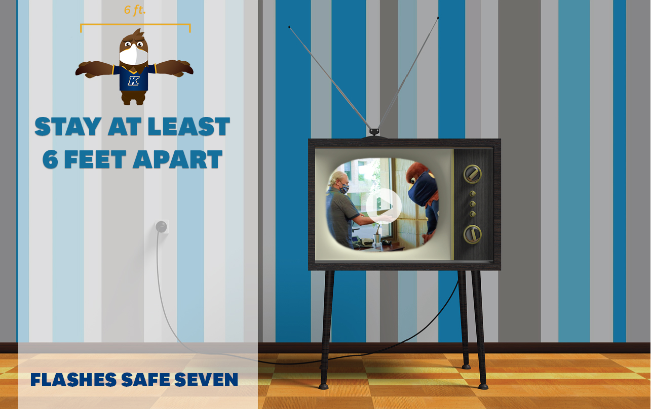 Watch the new Flashes Safe Seven video: Stay at least 6 feet apart