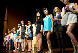 Models pose on the runway during last year's Kent State fashion School and Habitat for Humanity fashion show. This year's event takes place Dec. 8.