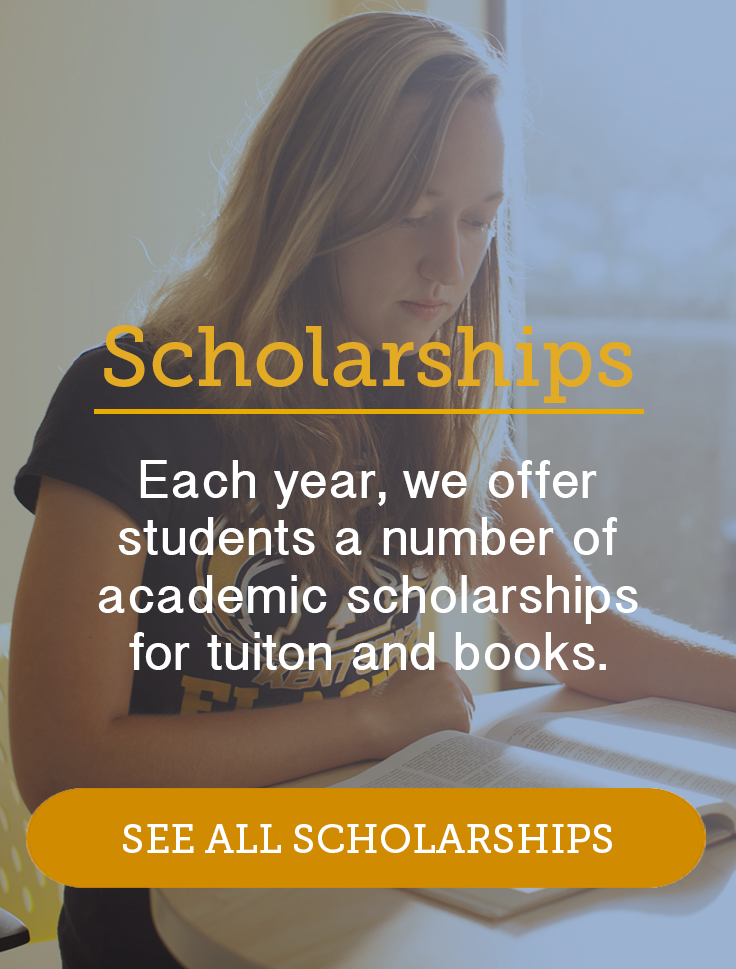 Each year, we offer students a number of academic scholarships for tuition and books. Click to view all scholarships.