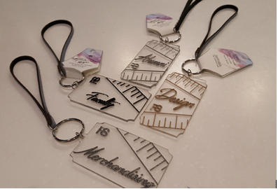 Fall 2017 – Etched / Engraved Fashion Keychains