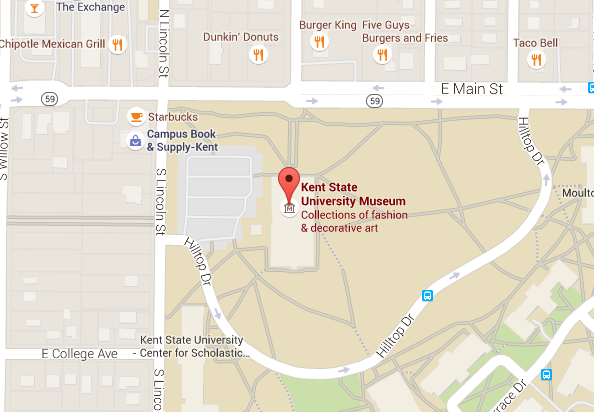 Map of Kent State University Museum