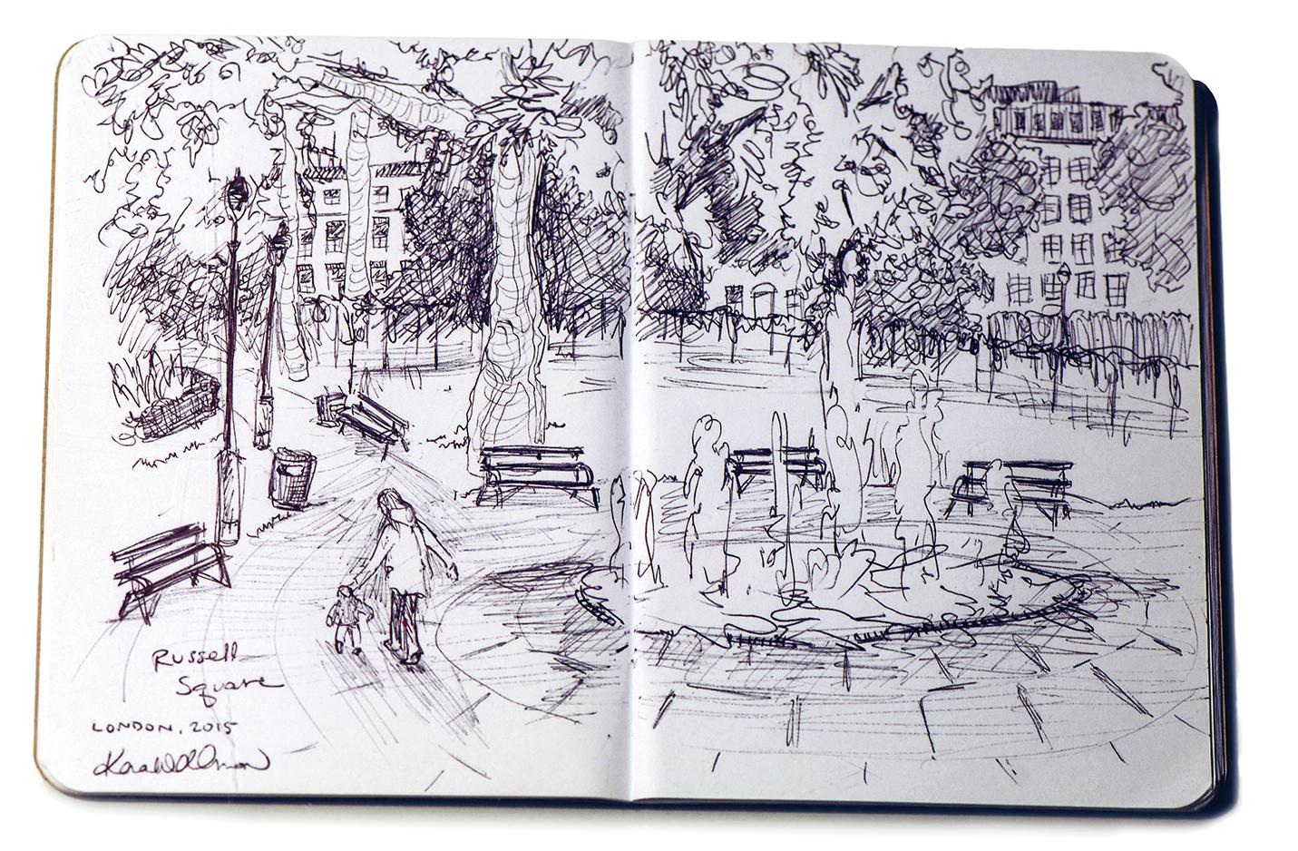 Kara Wellman '16 sketchbook