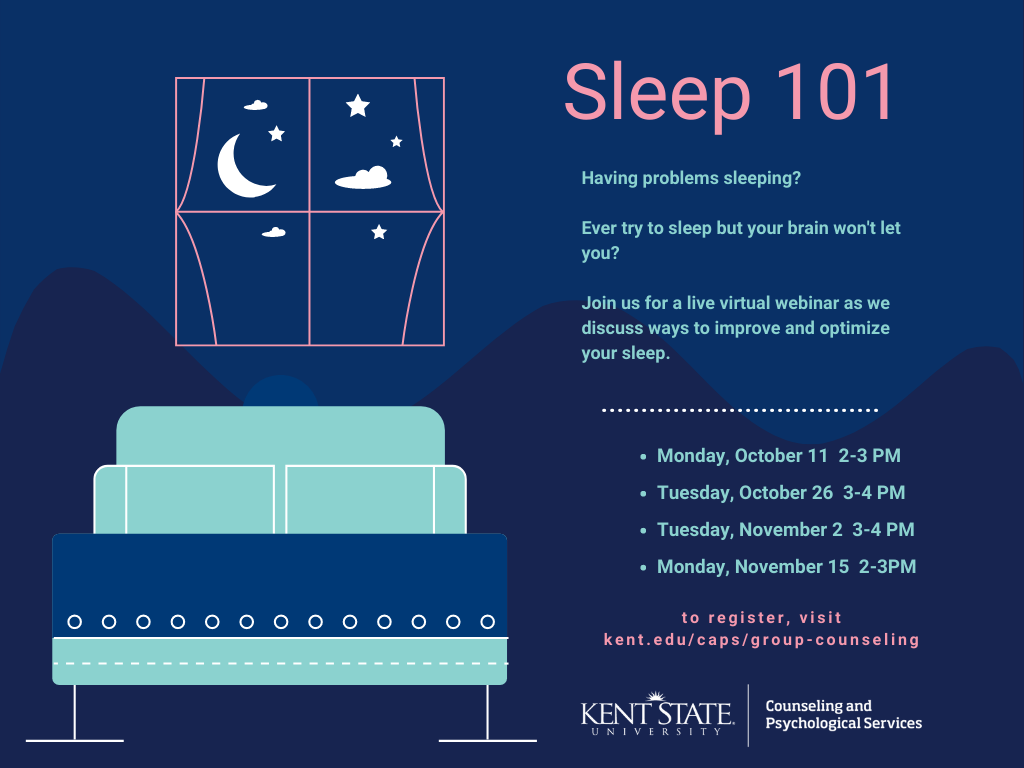 Sleep 101. Live virtual webinar to discuss ways to improve and optimize your sleep for success