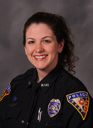 Kent State University Police Services Officer Tricia Knoles is featured in a video promoting a new training program for police officers in Ohio.