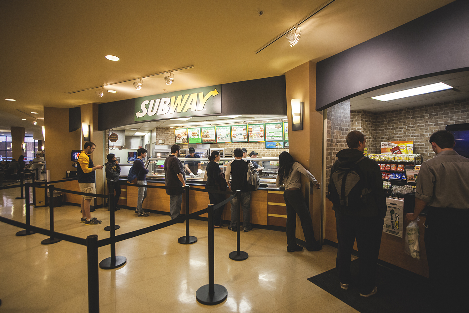 Photo of the Subway in the Kent Student Center