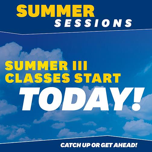 Summer Class III Start Today