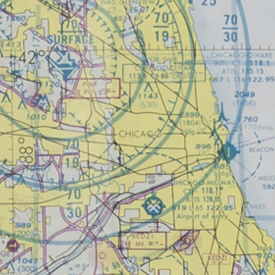 Chicago Sectional Aeronautic Chart, 1982