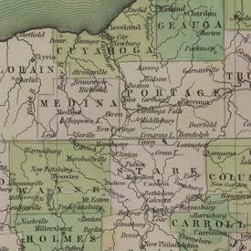 County Map of Ohio, 1838