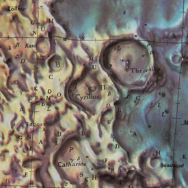 Lunar Plastic Relief Map, 1961