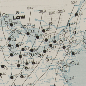 U.S. Department of Agriculture Weather Bureau Map, 1913