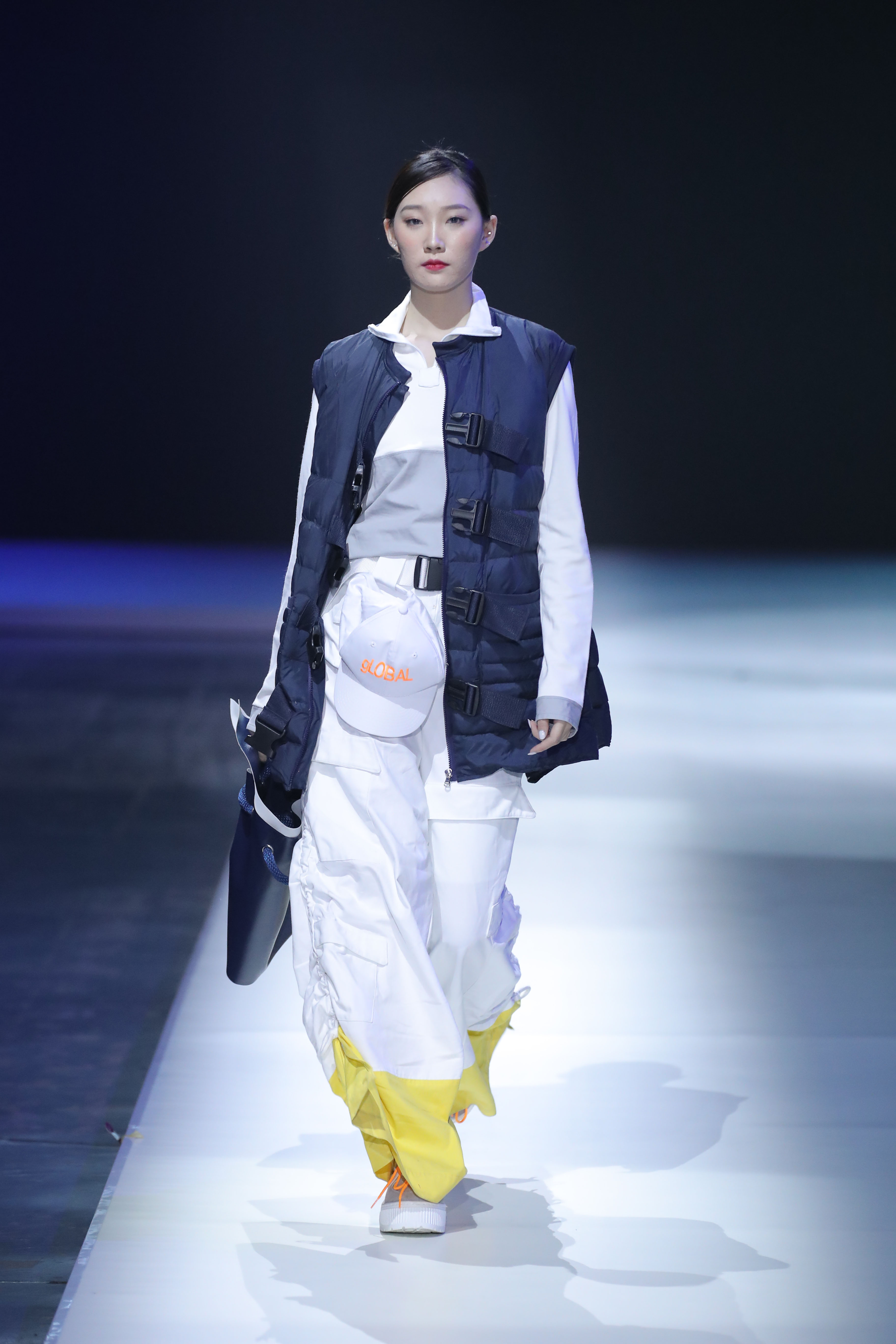 Model walking the runway during IYDC in China