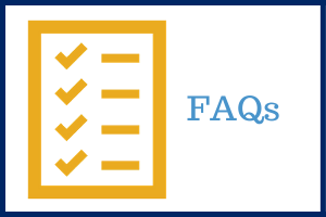 FAQs text with checklist icon