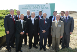 Pictured are Kent State University, county and state officials who attended the Tolloty Technology Incubator groundbreaking on June 4.