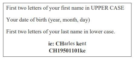 Senior Guest Registration Temporary Password