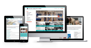 The State Library of Ohio website features a responsive design that scales to fit multiple devices.