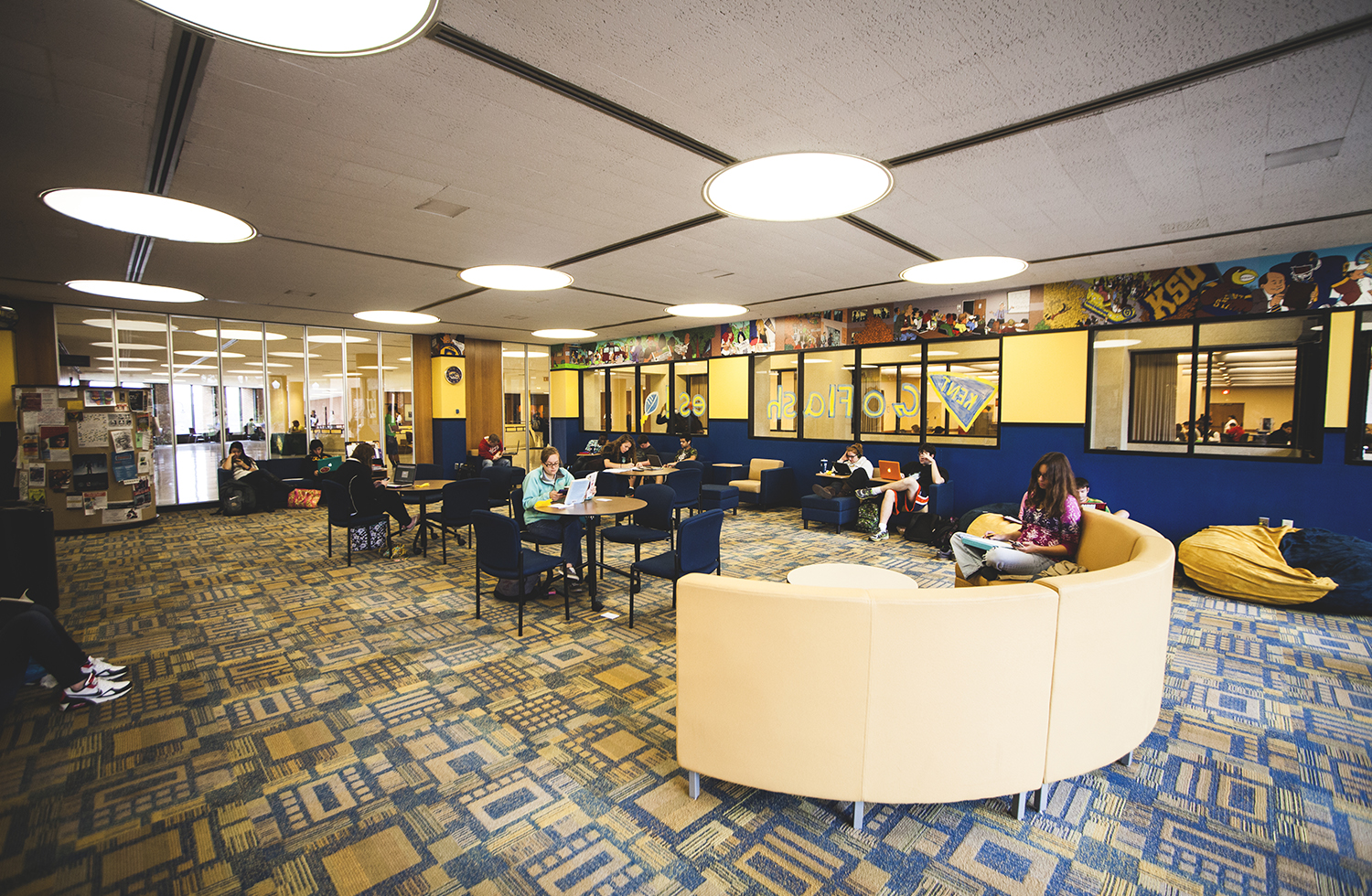 The Nest in the Kent Student Center. Learn more about Public Spaces.