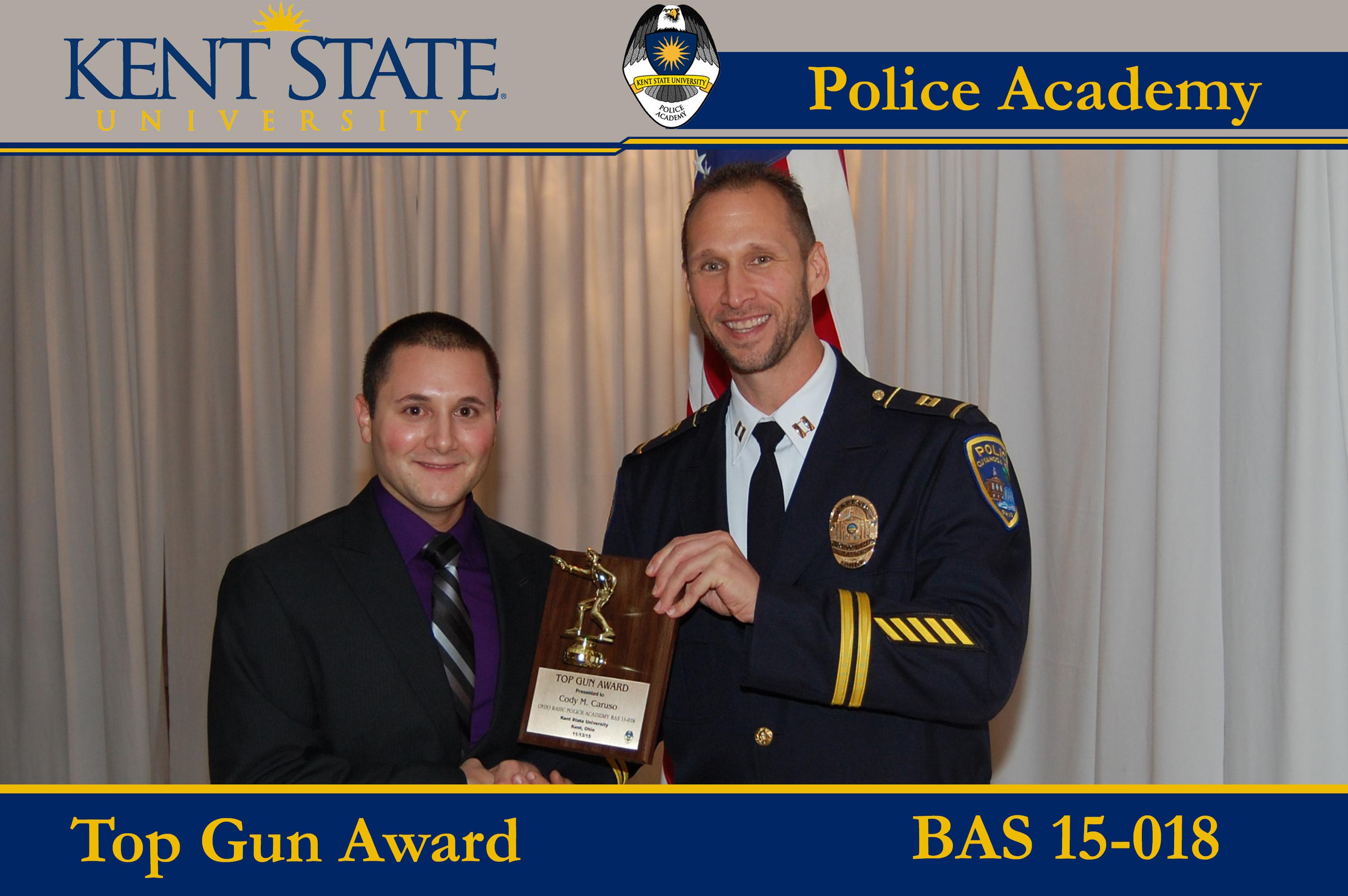 Cadet Receiving Top Gun Award BAS 15-018
