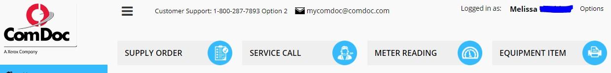 mycomdoc.com top navigation menu