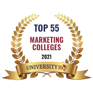 top 55 marketing colleges by UHQ