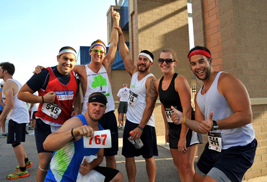Participants in the AMETEK Tree City 5K celebrate after completing the race course. The annual race, which takes place this year on July 6, benefits the United Way of Portage County.