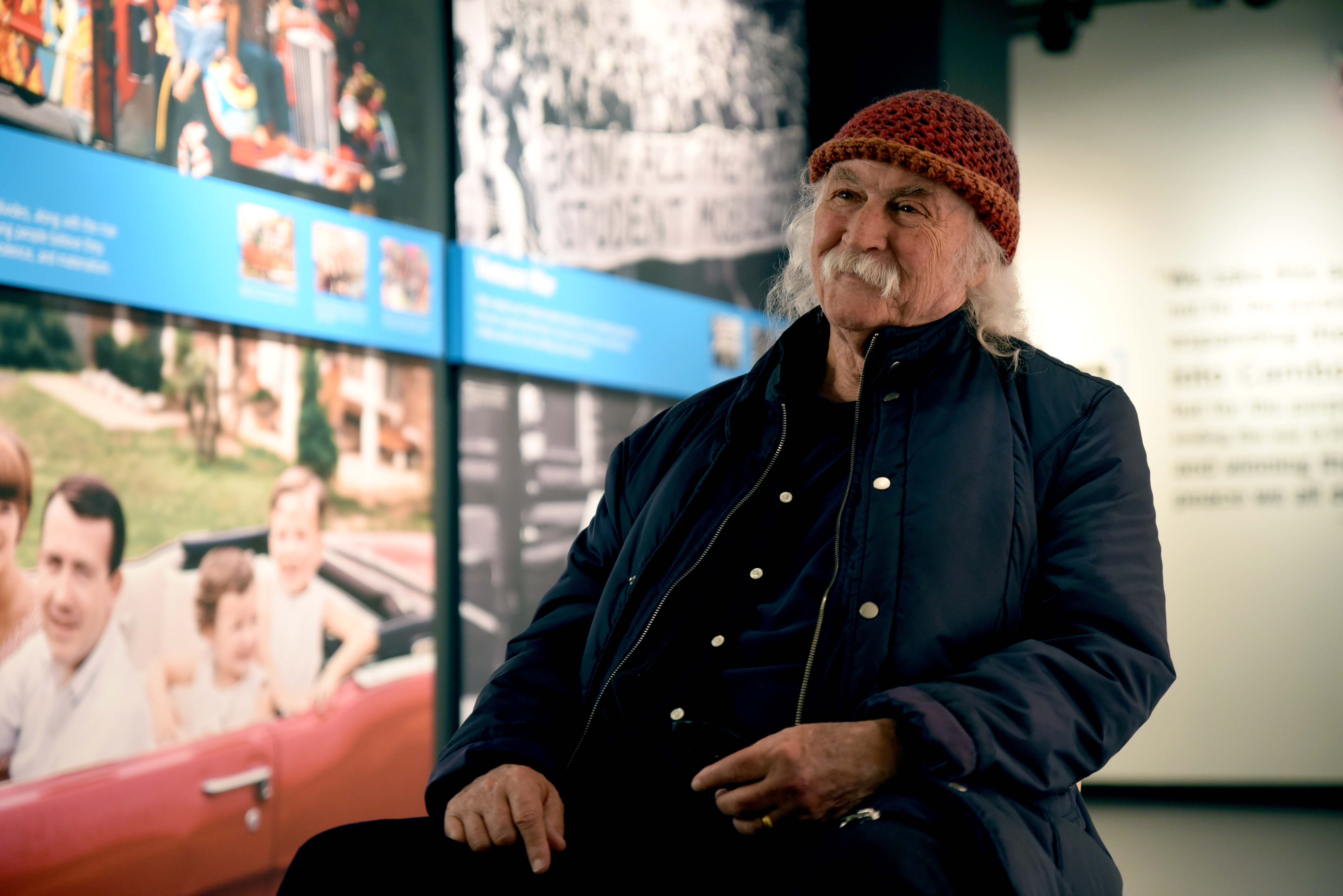 Singer-songwriter David Crosby visits Kent State University's May 4 Visitors Center and reflects on May 4.