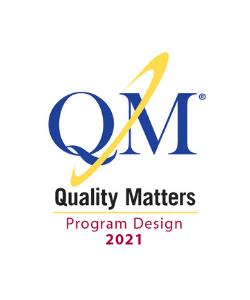 QM Quality Matters Program Design 2021 Logo