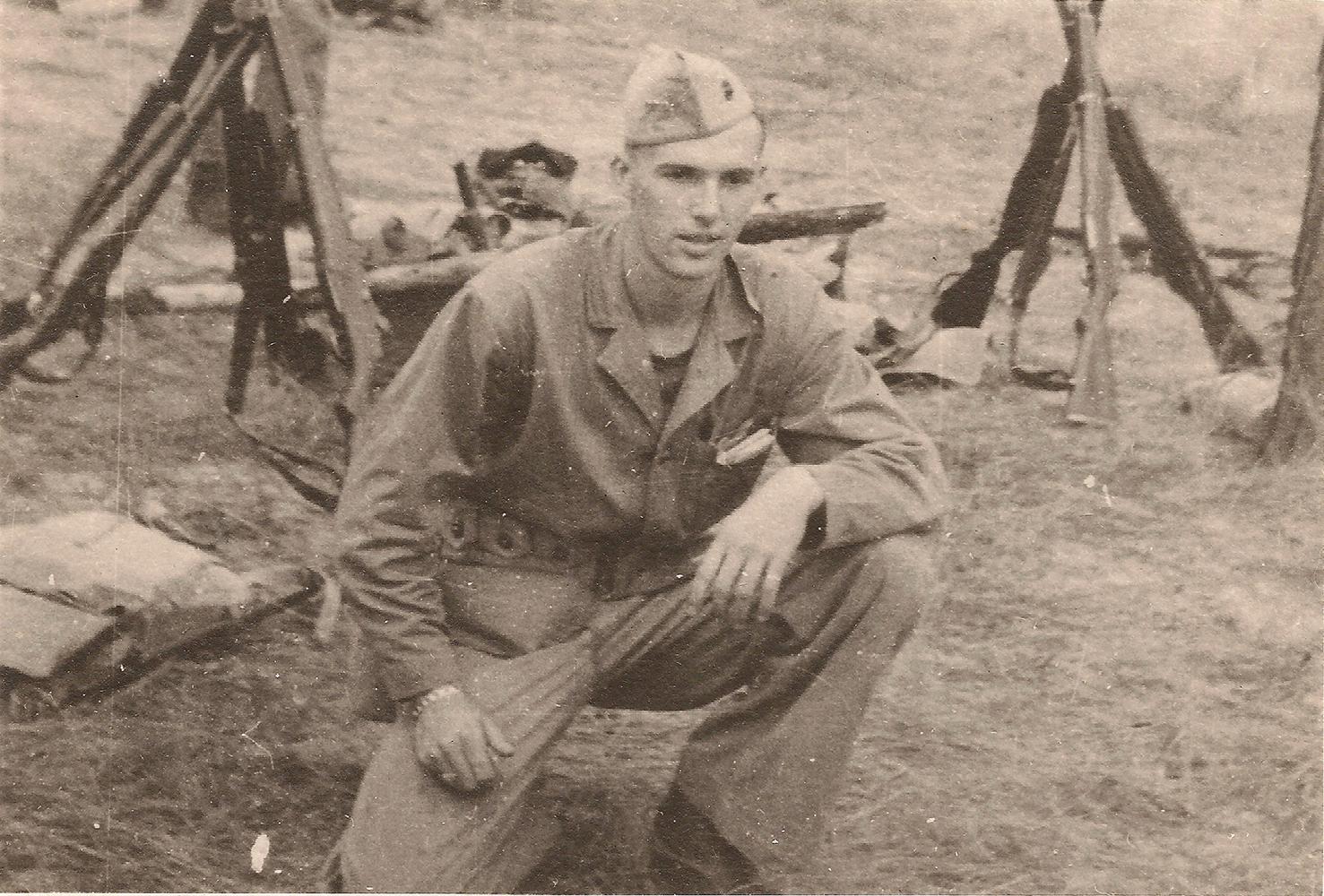 Second Lieutenant Wallace Hagedorn at Camp Lejeune