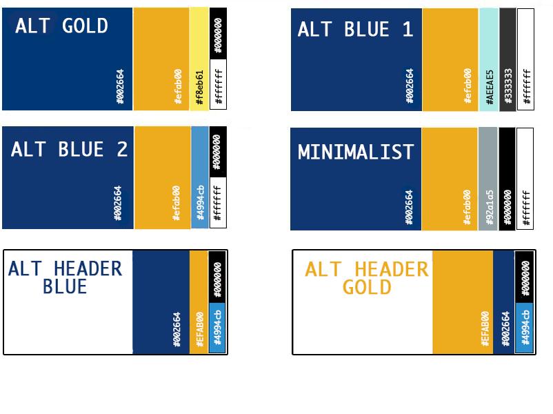 Alternate Color Palette Options