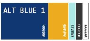 Alt Blue 1 Color Palette