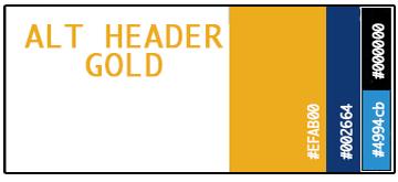 Alt Header Gold Palette