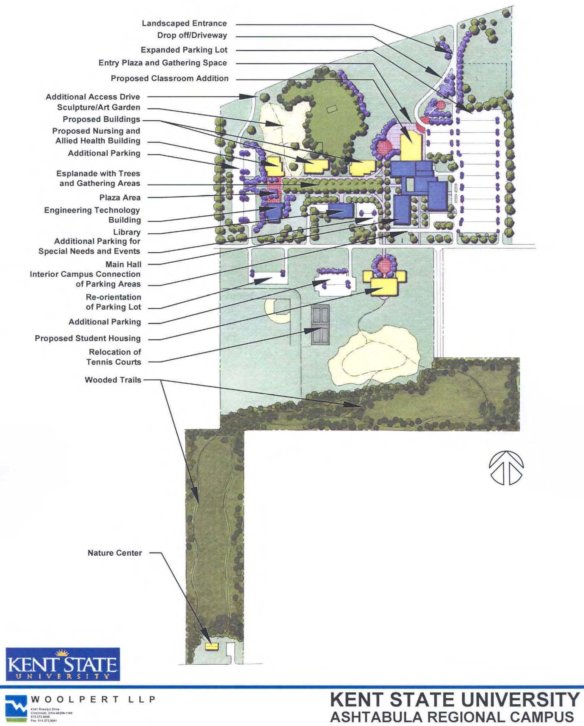Ashtabula Campus Master Plan Map