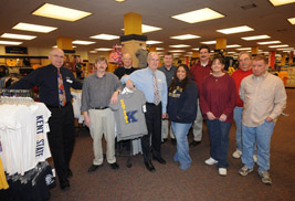 Pictured are staff members of the Kent State University Bookstore. The bookstore will hold a faculty and staff appreciation event from Dec. 4-6, with a special 25 percent discount on select merchandise for faculty and staff.