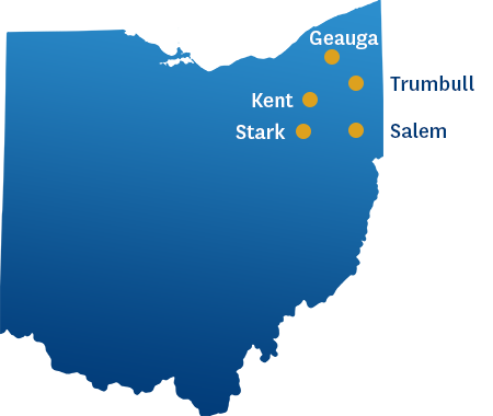 Locations in Ohio where the BSN program is offered