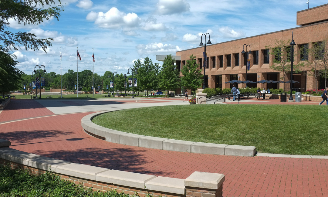 Risman Plaza on Kent Campus