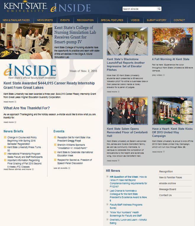 eInside CommonSpot Homepage