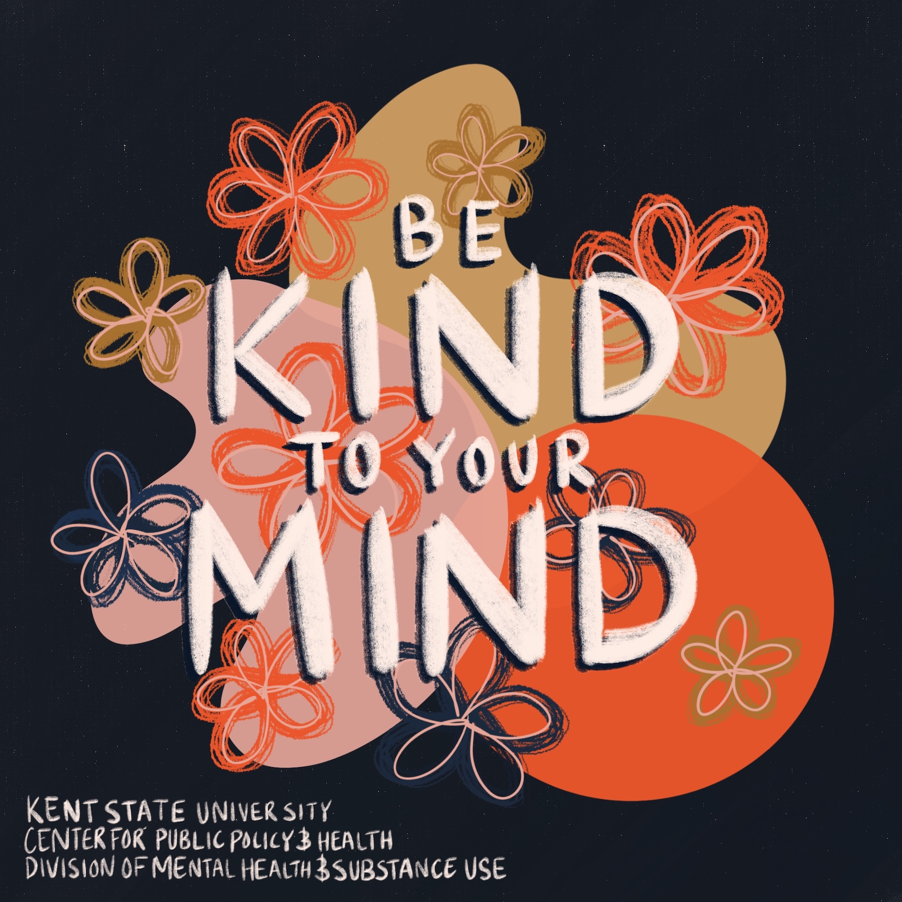 Graphic that says Be Kind To Your Mind