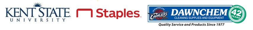Kent State, Staples, and Dawnchem Logo