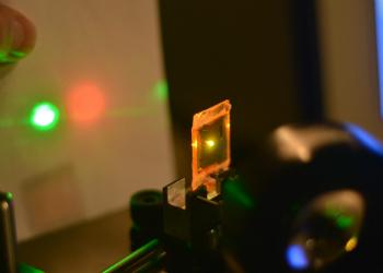 Photo of liquid crystal elastomer