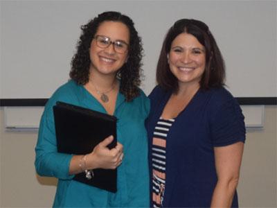 Scholar-Natalia Roman with Mentor-Dr. Suzy D'Enbeau