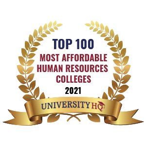 Ranked as one of the top 100 most affordable human resourcescolleges by University HQ
