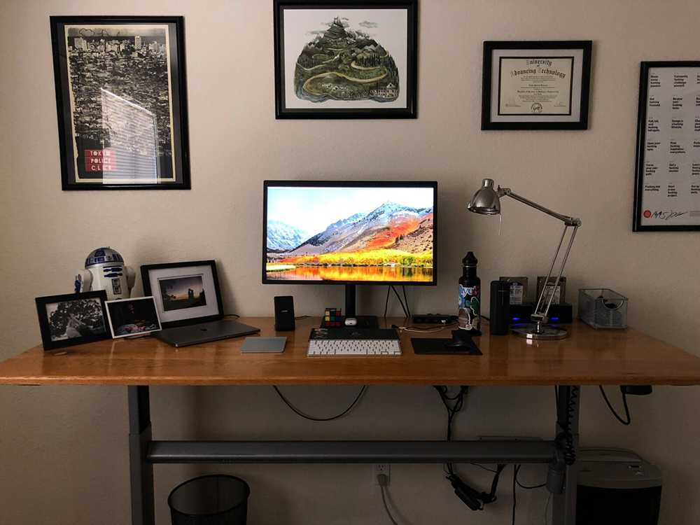 image of home office set up