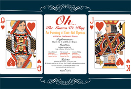 """The Kent State University Opera and Orchestra will present """"Oh … The Games We Play,"""" an evening of one-act operas, from March 15-17."""