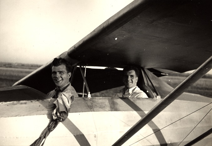 photo Aviation Hackathon old black and white Burt glider plane